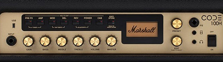 Marshall CODE100hコントロール部